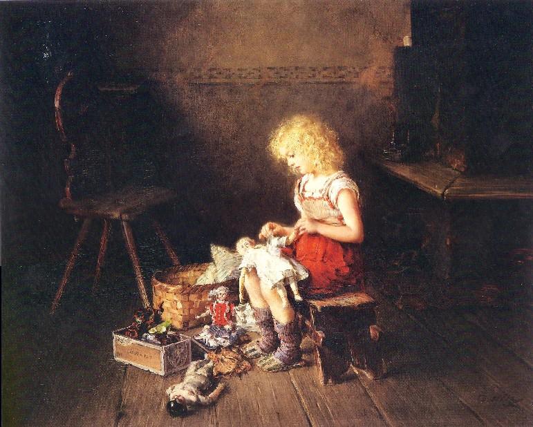Genremalerei 19. jahrhundert  Otto Piltz Drucksachen